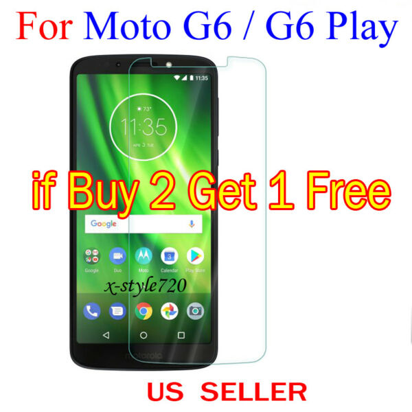 1x Clear LCD Screen Protector Guard Cover Shield For Motorola Moto G6  G6 Play