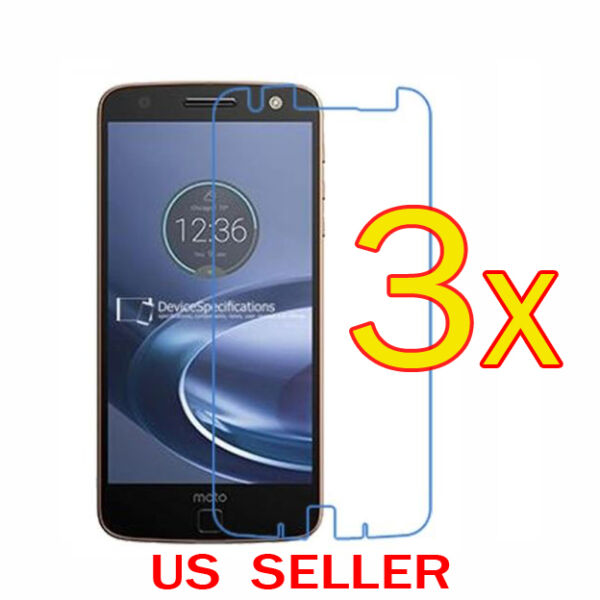 3x Clear LCD Screen Protector Guard Cover For Motorola Moto Z2 Force  Z2 Play