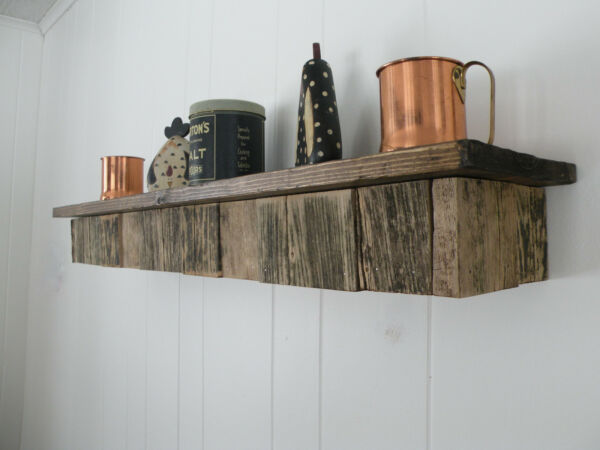 Reclaimed Rustic Wood Floating Fireplace Shelf Mantel Mantle Beam Custom Sizes