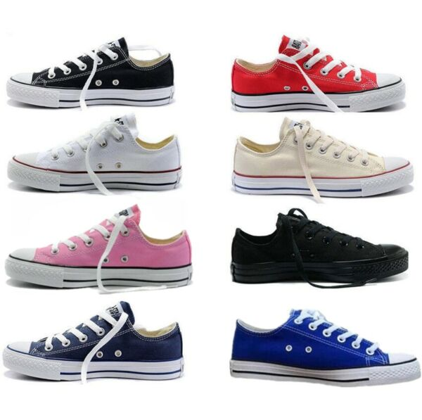 All-Star Women Authentic Trainer Low High Top Shoes Casual Canvas Sneakers New