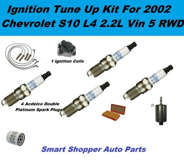 2002 Chevrolet S10 L4 2.2L RWD Ignition Coil Spark Plug Filter Igntion Tune Up