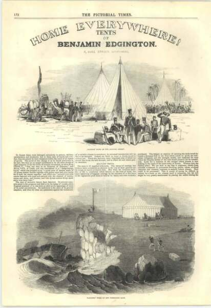 1846 Benjamin Edgington Military Tents Duke Street Southwark