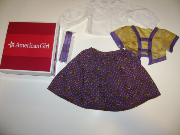 NIB AUTHENTIC AMERICAN GIRL CECILE#x27;S PARLOR DRESS OUTFIT for DOLLS RETIRED