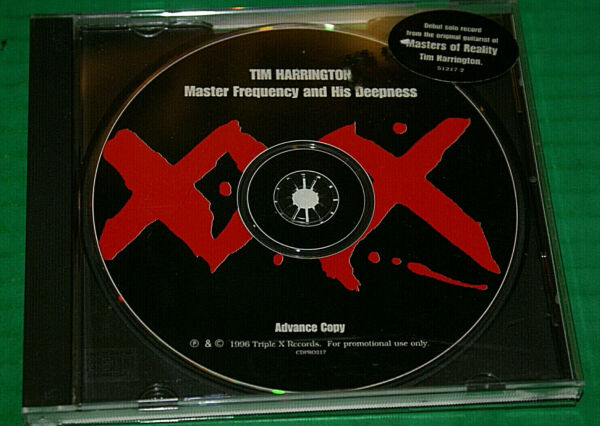 Tim Harrington - Master Frequency And His Deepness CD Rare Promo 1996 Htf