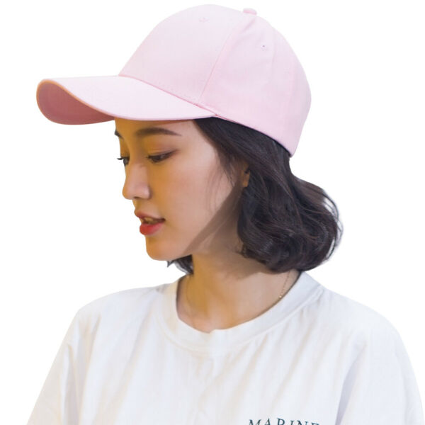 Women Girl Pink Cotton Baseball Cap Snapback Sun Hat Sports Hip Hop Cap Outdoor