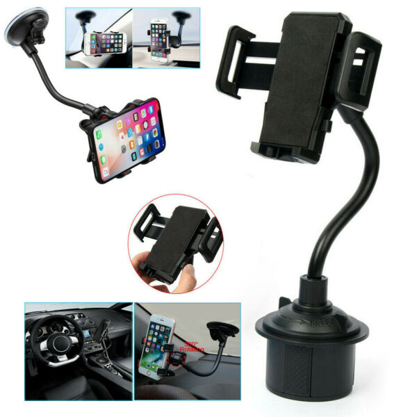 360° Universal Car Mount Windshield Cup Mobile Holder Cradle For Cell