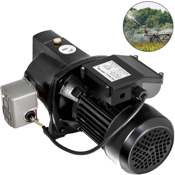 VEVOR Shallow Well Jet Pump w Pressure Switch 17.6GPM Height 216.5#x27; 110V 1HP