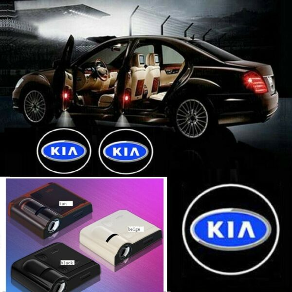 2pcs LED Car Door Light Logo Courtesy Projector Laser Ghost Shadow Light For KIA