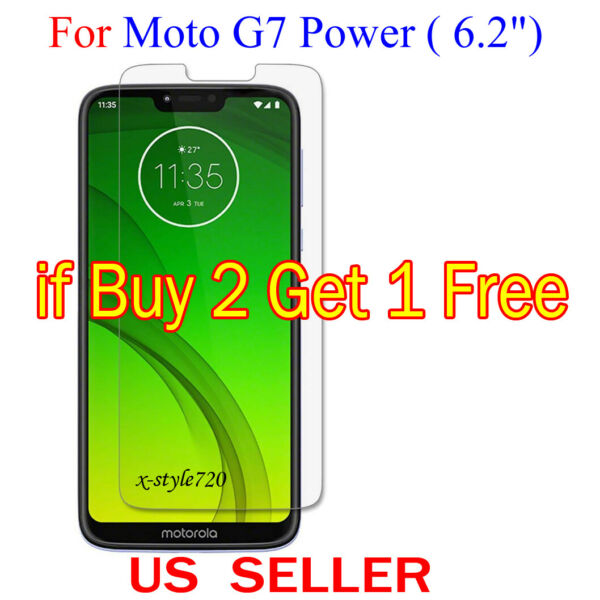 1x Clear LCD Screen Protector Guard Cover Film For Motorola Moto G7 Power (6.2