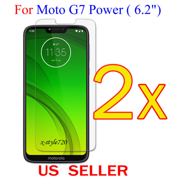 2x Clear LCD Screen Protector Guard Cover Film For Motorola Moto G7 Power (6.2
