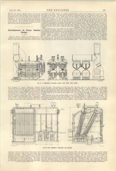 1921 Thompson Gas Boilers In Power Stations GBP 10.00