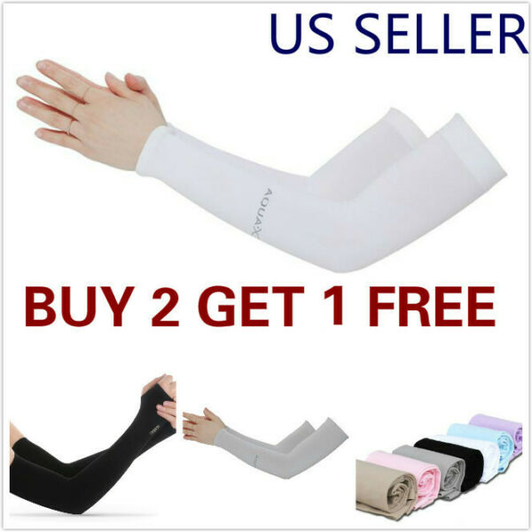 1 Pair Cooling Arm Sleeves Cover UV Sun Protection Outdoor Sports men women $3.49