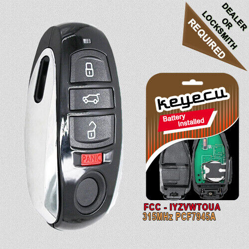 Replacement Remote Key Fob 4B 315MHz PCF7945A for Volkswagen Touareg  2011-2016