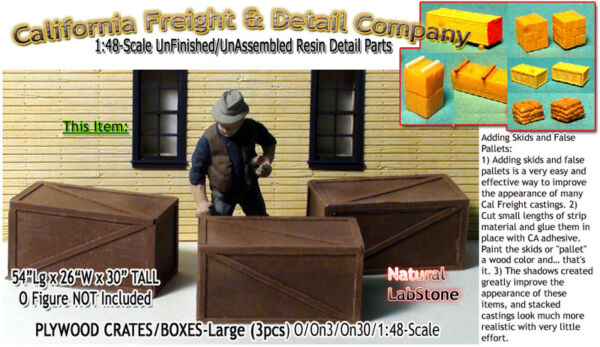 Scale Model MasterpiecesYorke Plywood Crates (3pcs) On30