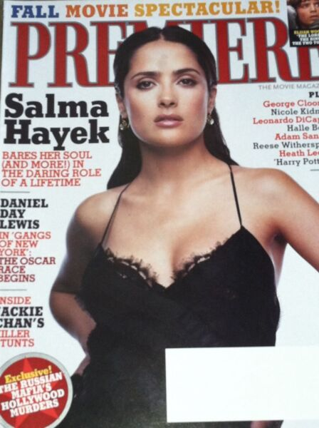 SALMA HAYEK Premiere Magazine September 2002  HEATH LEDGER