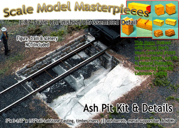 Scale Model MasterpiecesYorke Ash Pit & Details Kit for Roundhouse HO