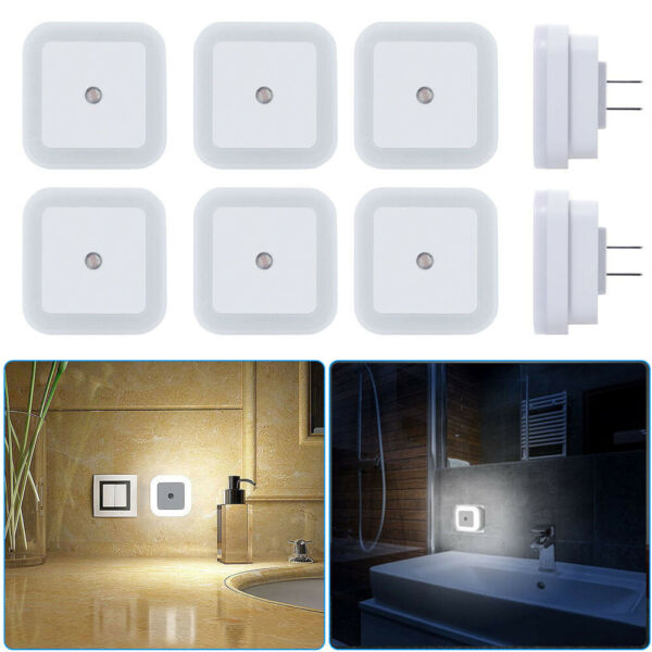 0.5W Plug in Auto Sensor Control LED Night Light Lamp for Bedroom Hallway Bath
