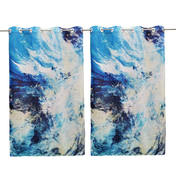 """HGMart 58""""x120"""" Outdoor Patio Waterproof Curtains With Abstract Painting Print $38.99"""