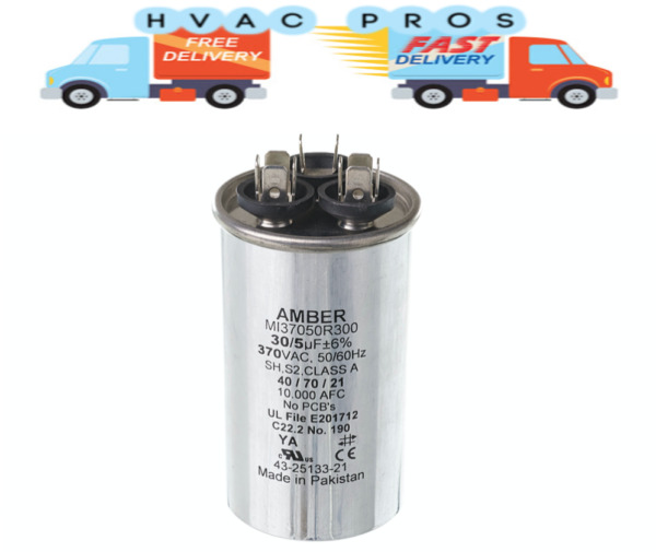 Intertherm Nordyne Capacitor 30 5 uf 370 volt 620777 $14.99