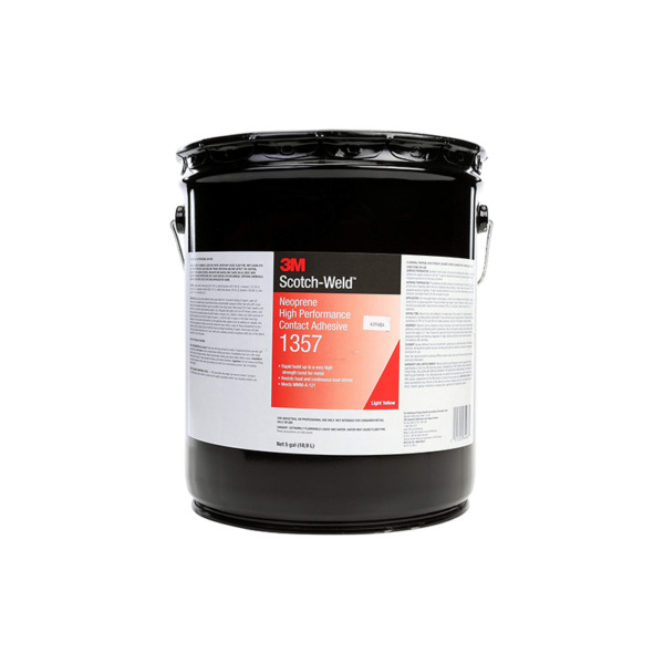 3M™ Neoprene High Performance Contact Adhesive 1357 Light Yellow 5 Gallon Pail