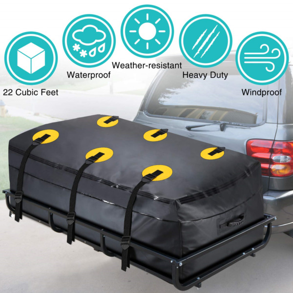 MODOKIT Trailer Hitch Bag 100% Waterproof Hitch Tray Cargo Carrier Bag for Car $85.68