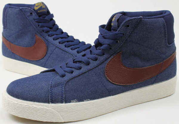 Nike SB Mens Zoom Blazer Mid Sneakers Binary Blue Dark Team Red 8.5 New