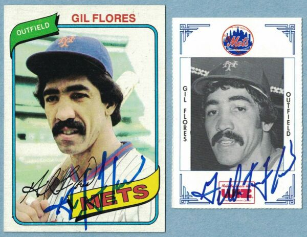 Gil Flores New York Mets Wiz Topps Signed Baseball Card PICK ONE