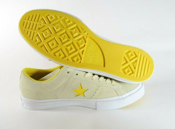Converse ONE STAR Vanilla Solar Yellow Suede 159814C Mens size 11.5