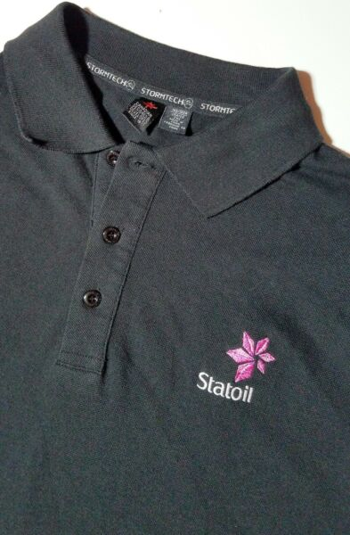 StatOil Gas Energy Mens Polo Golf Shirt 2XL Embroidered Logo Black Equinor Corp $17.29
