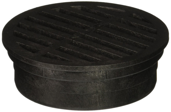 NDS 11 Plastic Round Grate 4 Inch Black