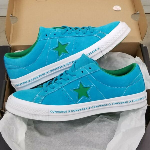 Converse One Star Ox Suede Hawaiian Ocean Blue Jolly Green
