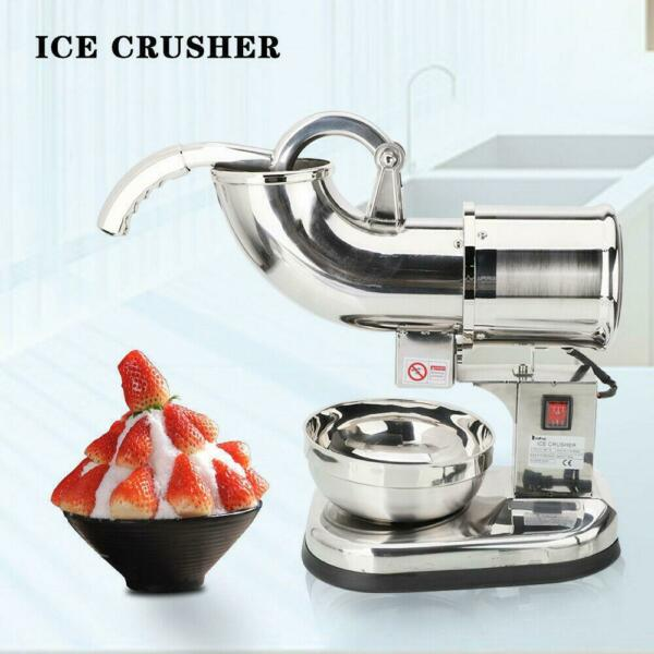Stainless Steel Electric Ice Crusher Maker Shaver Snow Cone Grinder 200KGh