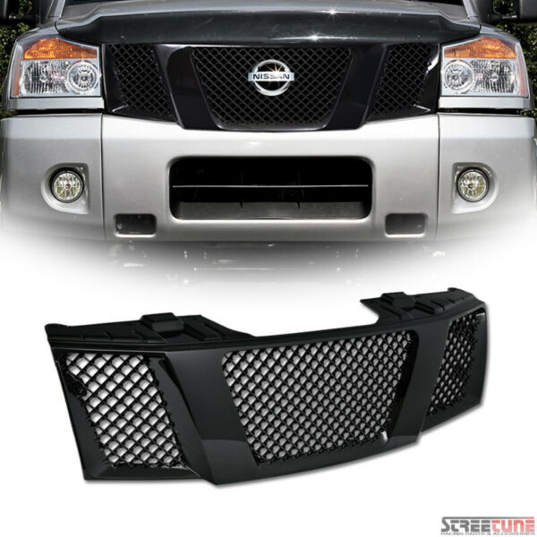 For 04+ Nissan Titan/Armada Blk Bentley Mesh Front Grill Grille Kit Replacement