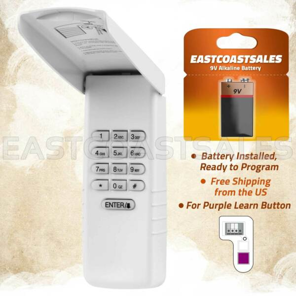 For Liftmaster Sears Garage Door Keyless Entry Keypad 377LM Opener 371LM 373LM