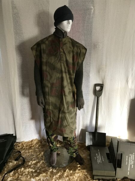 New vintage German army poncho cape rain poncho water proof surplus military mod
