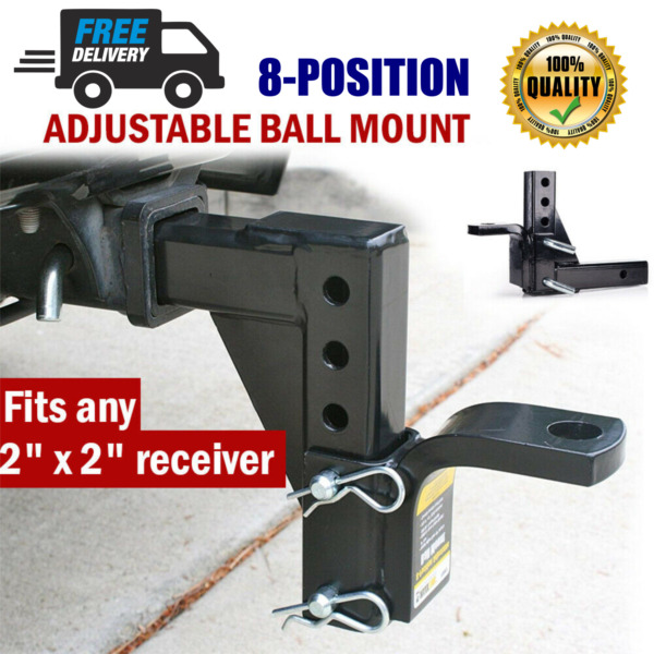 Dual Ball Mount Heavy Duty Drop Adjustable Hitch Receiver Tow Truck RV Trailer $47.90