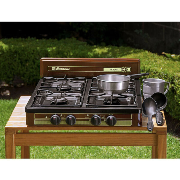 KOBLENZ 4 BURNER PROPANE GAS Cooktop Stove Portable Outdoor Camping 18quot; x 24quot;