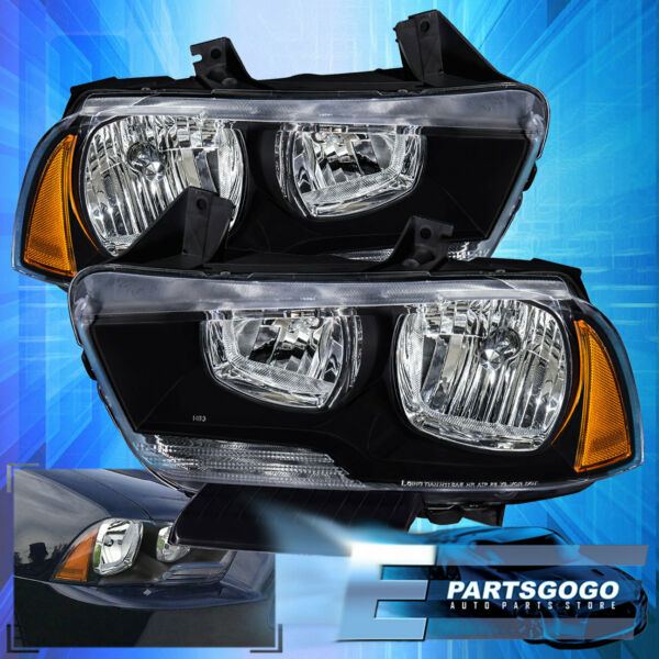 For 2011-2014 Dodge Charger Projector Headlight Lamp Amber Corner Replacement