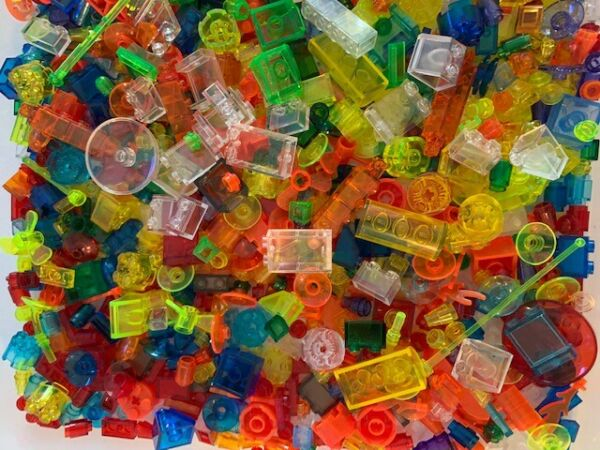 LEGO 100 TRANSPARENT PIECES FROM BULK RANDOM SELECTION CHOICE OF COLOR amp; QTY