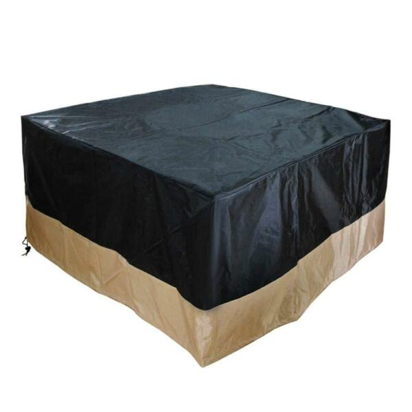 "40""Heavy Duty Patio Square Fire Pit Table Outdoor Waterproof Cover Black $21.84"