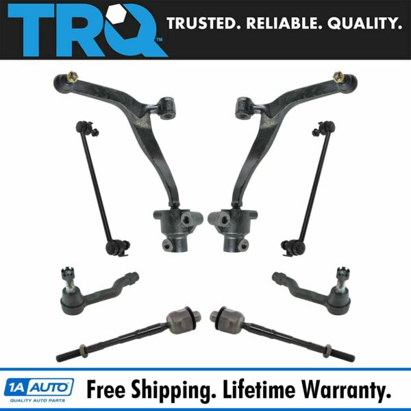 Front Steering Suspension Control Arm Ball Joint Tie Rod Sway Link 8pc Kit Set