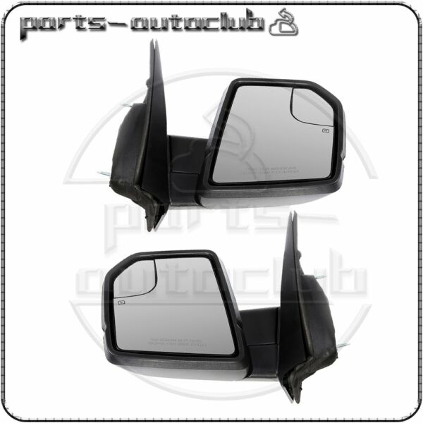 Fits For 2015-2018 Ford F-150 Power Heated Turn Signal Left+Right Side Mirror