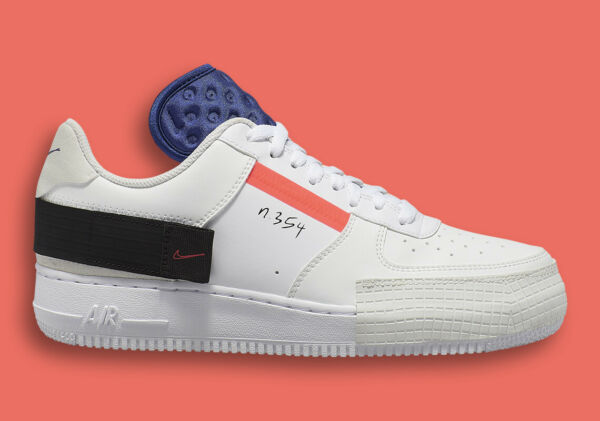 Nike Air Force One 1 AF1-Type Low Drop Summit White Red Orbit White CI0054-100
