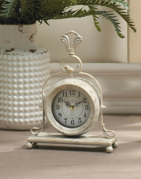 Accent Plus - VINTAGE TABLETOP - Mantel CLOCK Bird Figure Battery Powered Analog