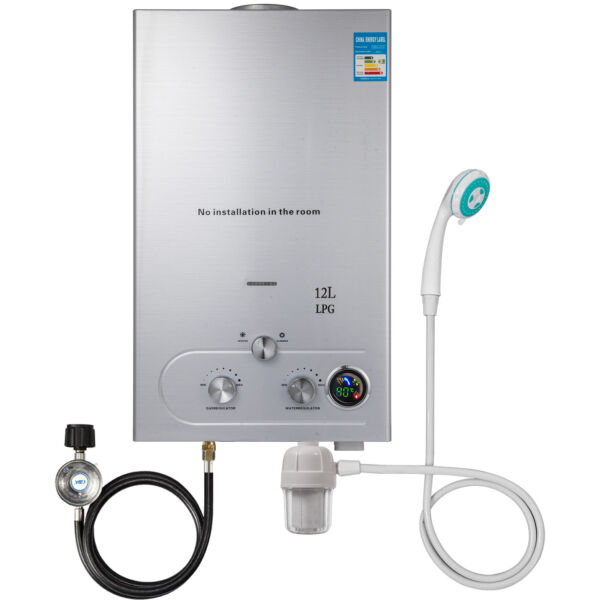 12L 3.2GPM Hot Water Heater Propane Gas Instant Tankless Boiler LPG Upgrade Type $106.95