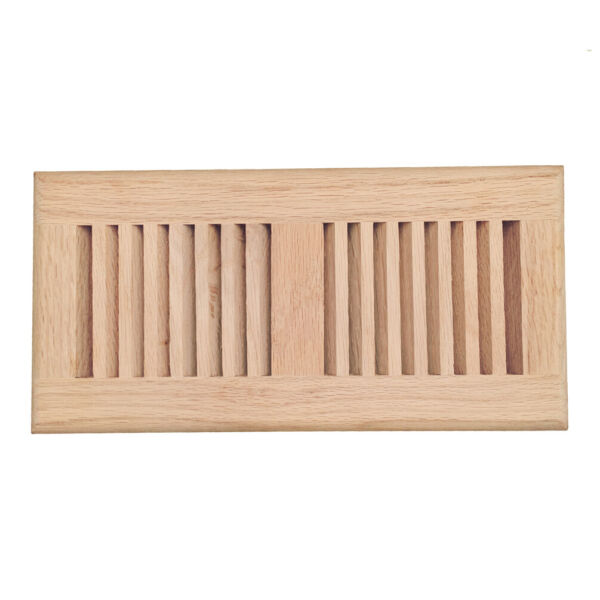 Oak maple hickory walnut wood floor register drop in vent cover unfinished