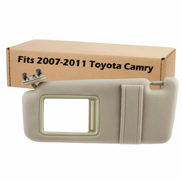New Tan Sun Visor Left Driver for 2007-2011 Toyota Camry Without Vanity Light $24.95