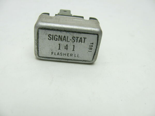 Vintage Signal stat 141 Rectangular Two Prong Heavy Duty 12v Flasher Relay