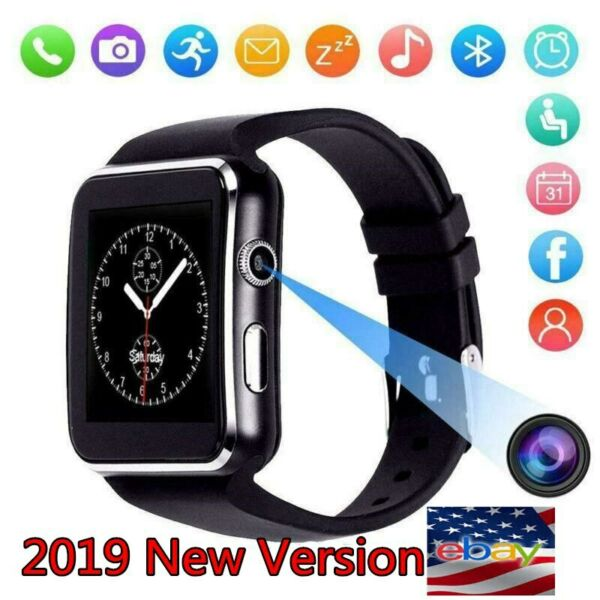 Smart watch iPhone Android IOS Support SIM Bluetooth Smart Watch x6 BlackWhite*