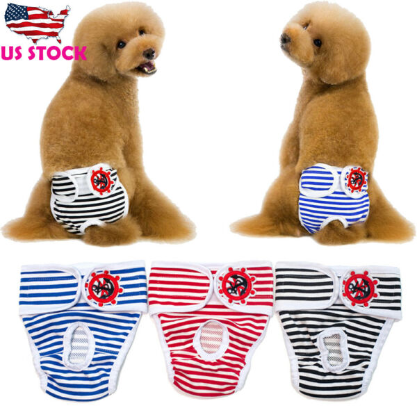 Pet Dog Diaper Pants Soft Cotton Sanitary Underwear Puppy Physiological Panties